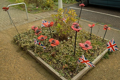 Metal poppies made by pupils